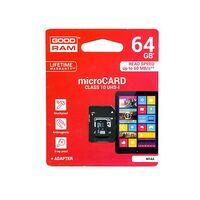 Καρτα Μνημης Trans Flash 64GB GoodRam Με Ανταπτορα SD Class 10