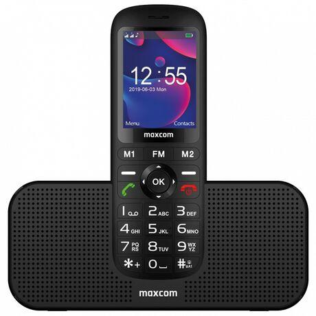 "Maxcom MM740 2.4"" με Bluetooth 5.0, Ραδιόφωνο, Πλήκτρο Έκτακτης Ανάγκης και Βάση-Ηχείο Μαύρο"